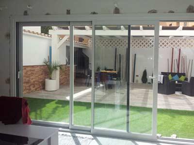 Mamparas - Puertas para jardin de aluminio ...